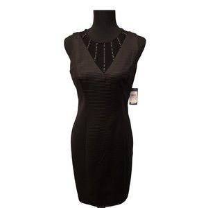 Guess Illusion-Striped Bodycon Dress New with Tags
